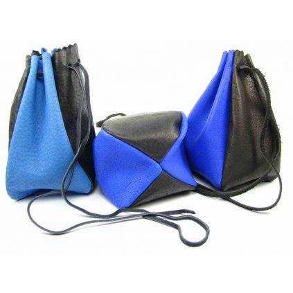 Kožený MAXI měšec tmavě modrý - 1