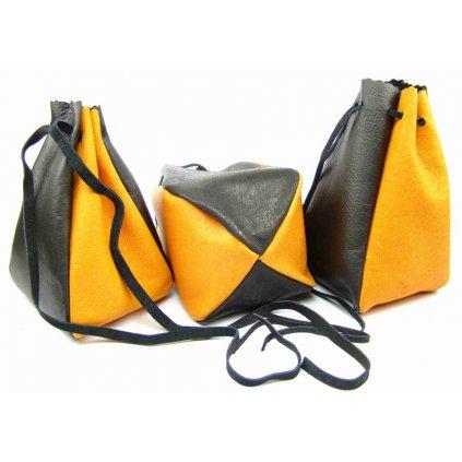 Kožený MAXI měšec oranžový - 1