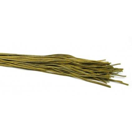 Kožený řemínek olivový 5 ks - 1