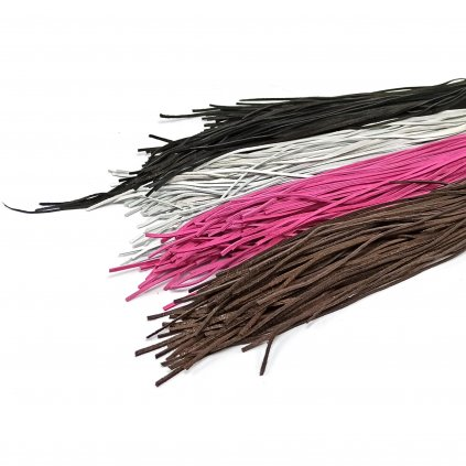 Kožený řemínek mix barev - 10 ks - 1