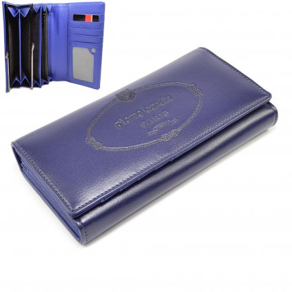 Kožená dámská peněženka modrá
