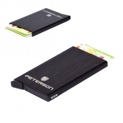 Luxusní pouzdro na karty černé - 1
