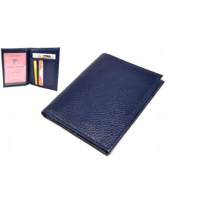 Kožené pouzdro na karty modré - 1