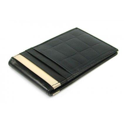 Kožené pouzdro na karty černé - 2