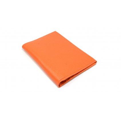 Kožené pouzdro na karty oranžové - 2