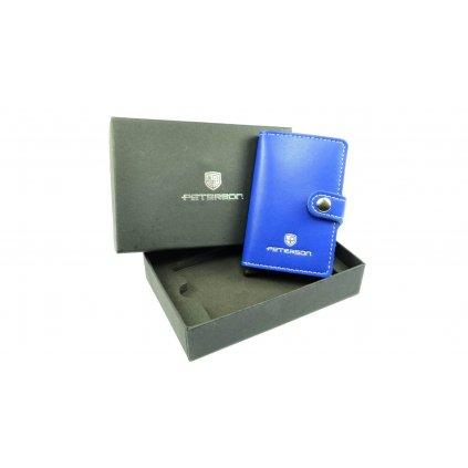 Pouzdro na karty modré - 5