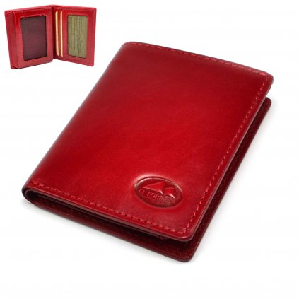 Pouzdro na platební karty nebo vizitky červené - 1