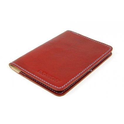 Červená kožená dokladovka - 2