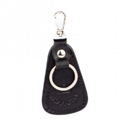 Klíčenka černá kožená - 1