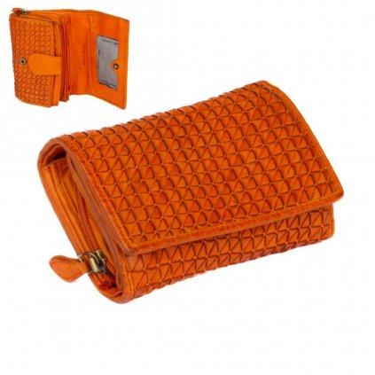 Kožená dámská peněženka barevná