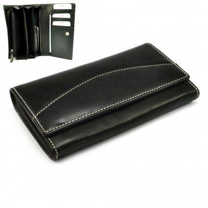 Černá dámská kožená peněženka