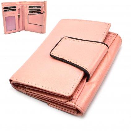 Dámská peněženka růžová velká - 1