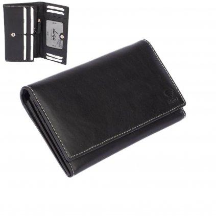 Černá dámská peněženka kožená