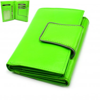 Stylová dámská peněženka zelená