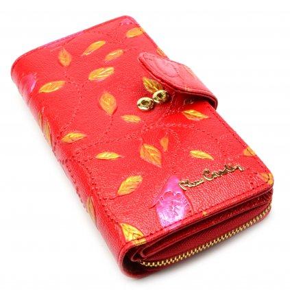 Peněženka dámská červená s ornamenty - 3