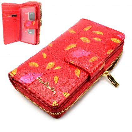 Peněženka dámská červená s ornamenty