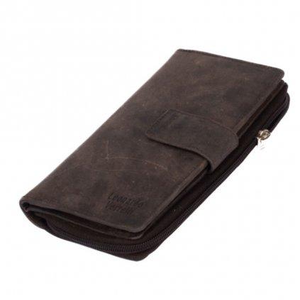 Dámská luxusní kožená hnědá peněženka - 2