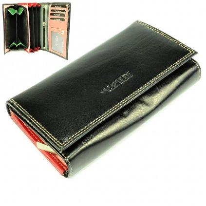 Dámská peněženka černá kožená