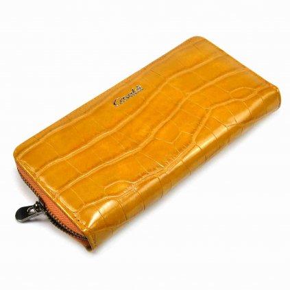 Hnědá dámská kožená peněženka - 2