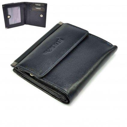 Kožená malá dámská peněženka