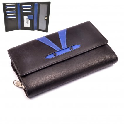 Barevná kožená peněženka dámská - 1