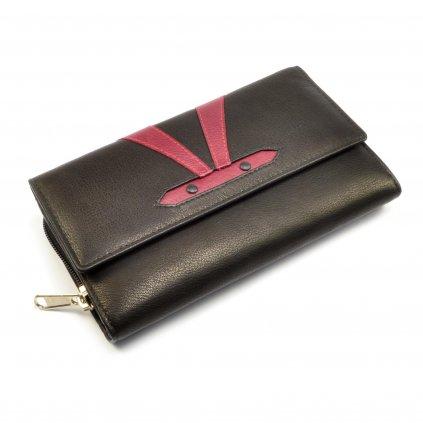 Kožená barevná peněženka dámská - 2