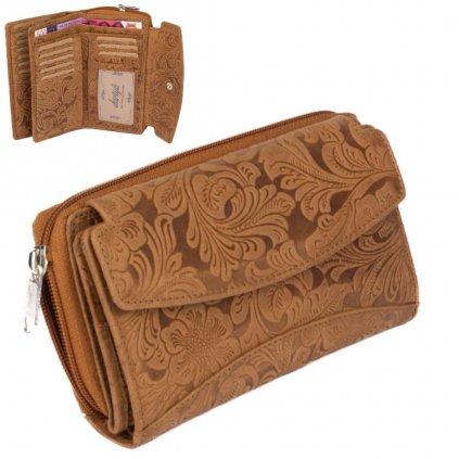 Luxusní dámská kožená peněženka