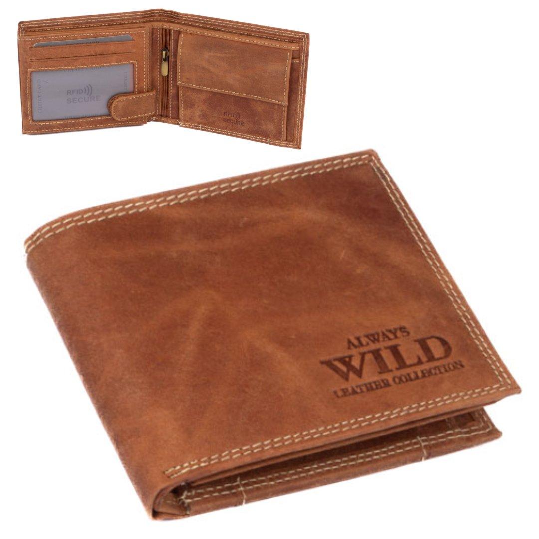 Always Wild Hnědá peněženka kožená pánská