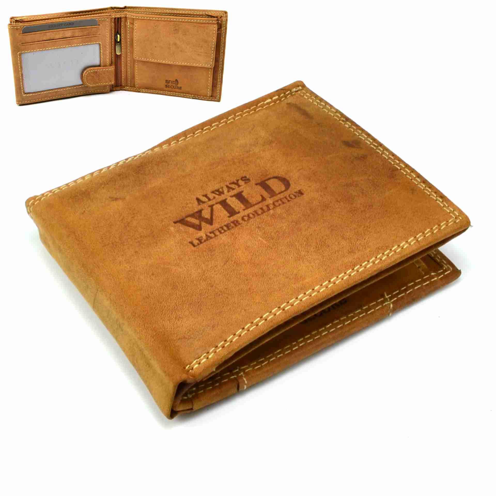 Always Wild Hnědá peněženka kožená