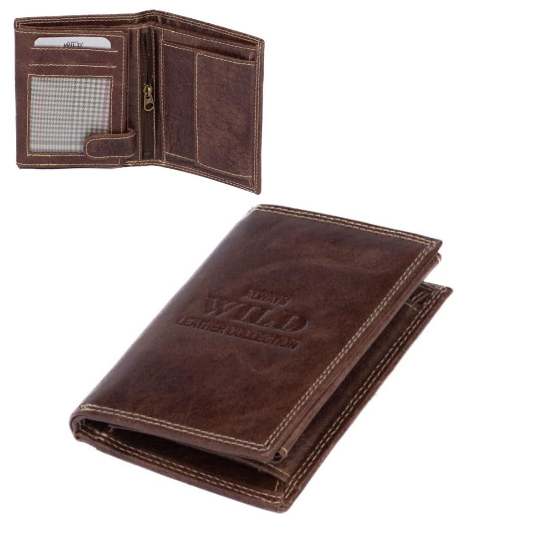 Always Wild Kožená peněženka hnědá pánská