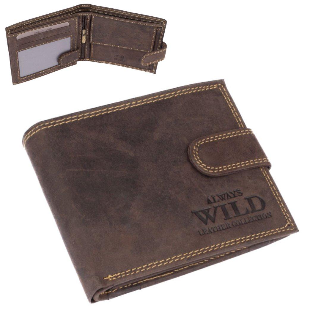 Always Wild Peněženka pánská kožená hnědá