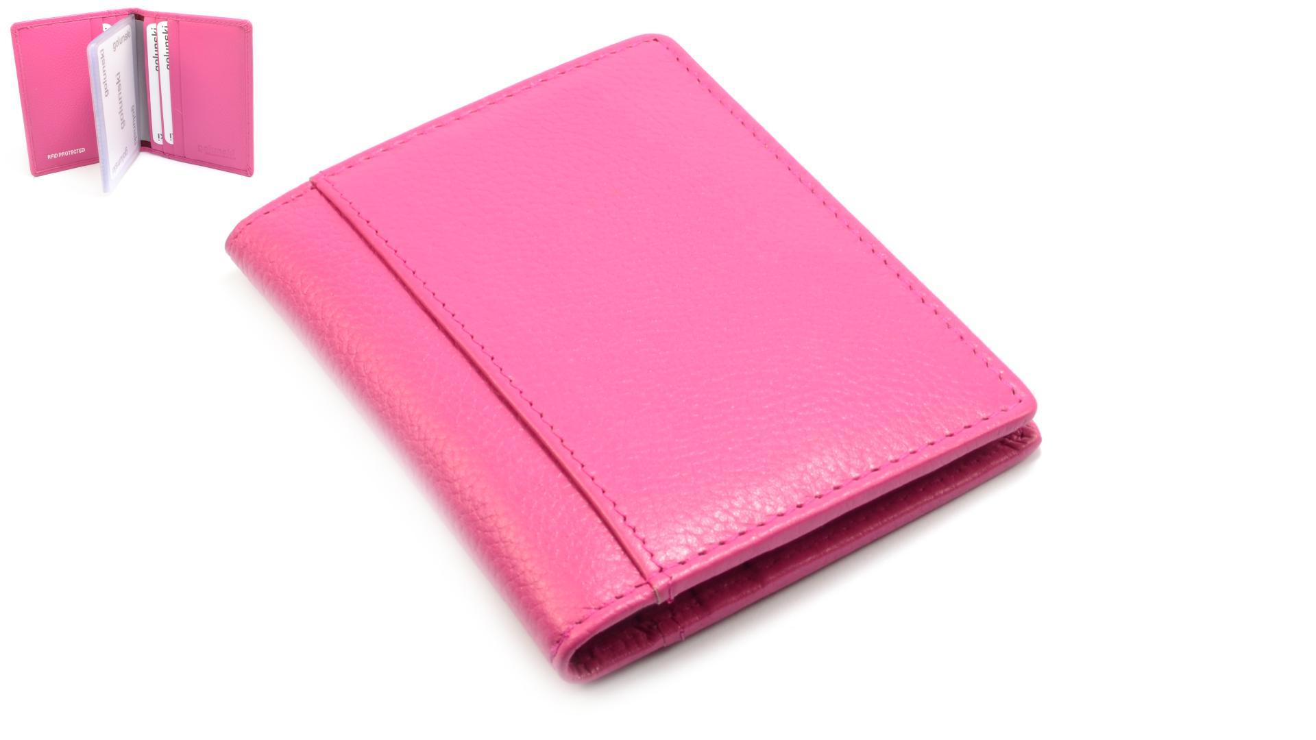 Golunski Pouzdro na karty růžové