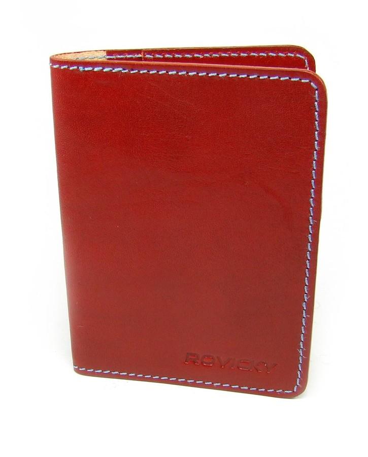 Rovicky Červená kožená dokladovka