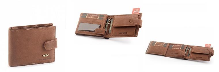 Pánská kožená peněženka Peterson - klasik hnědá