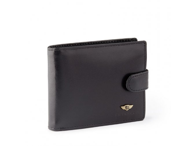 Panska kozena penezenka Peterson s kapsou na kreditni karty cerna