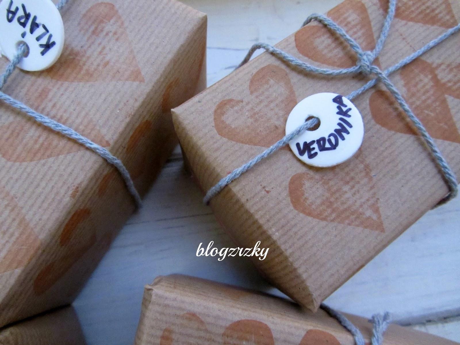 DIY ozdobné balení dárků