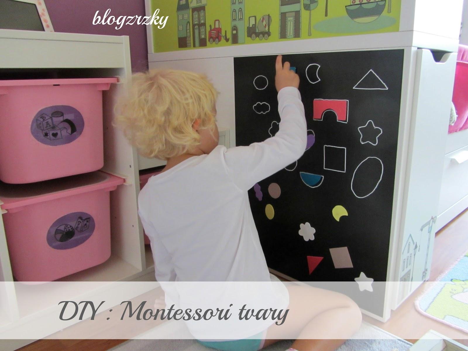 DIY / Montessori aktivity doma - přiřazování tvarů