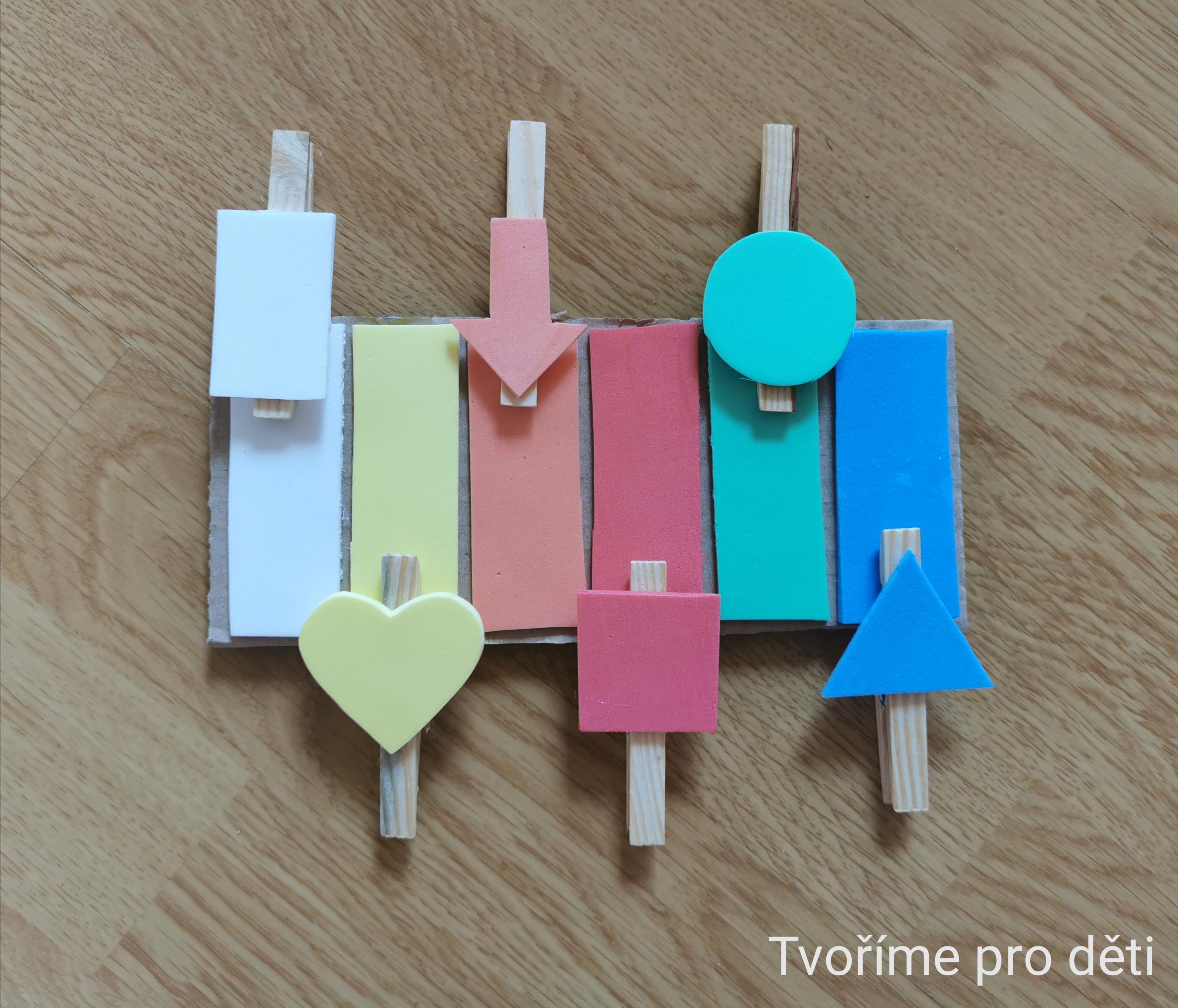 Tvoříme pro děti- přiřazování barev