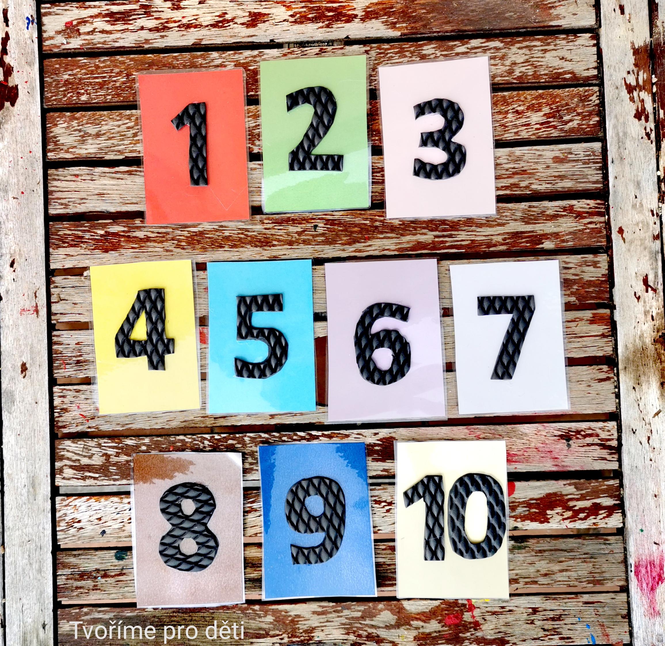 Tvoříme pro děti - Hmatové číslice