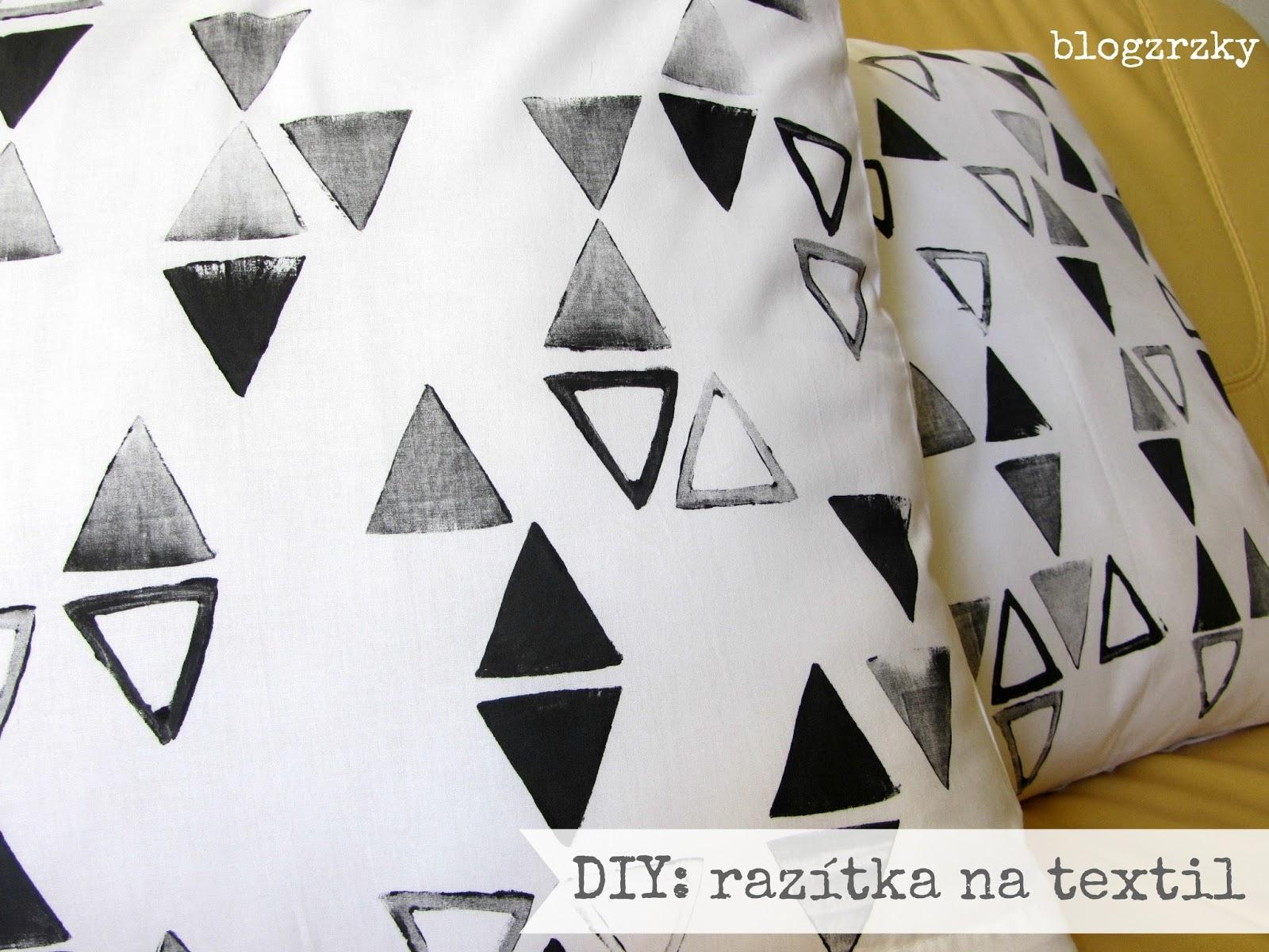 DIY / Razítkování na textil