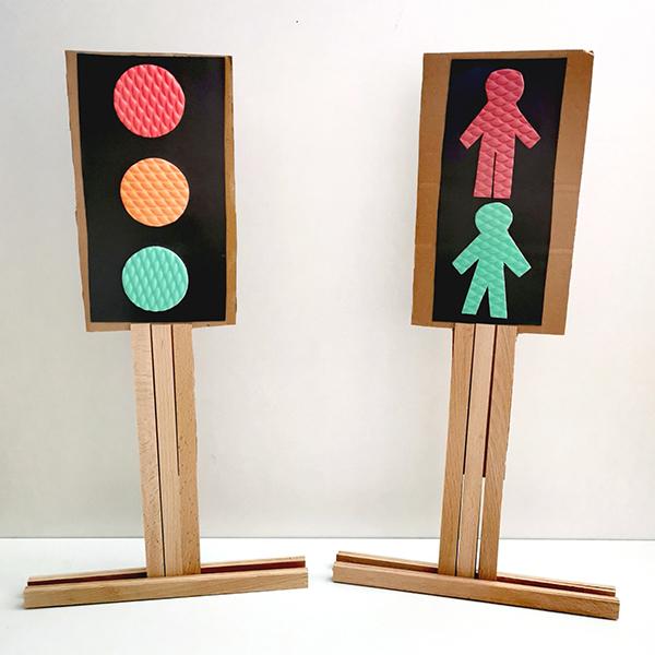 Tvoříme pro děti - Semafory z pěnovky a kartonu
