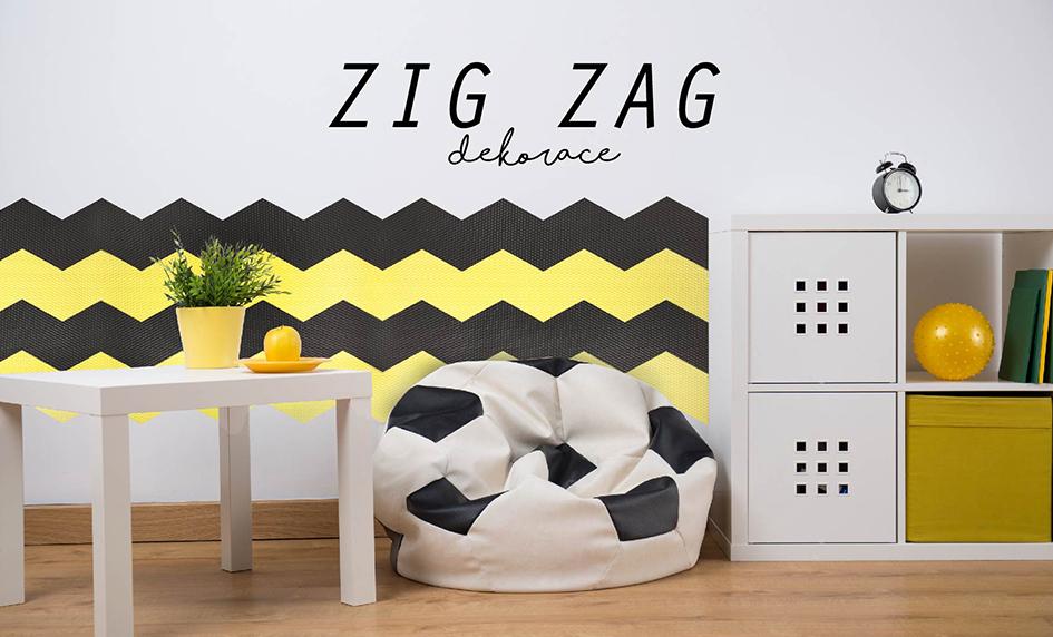 zig zag dekorace stěn