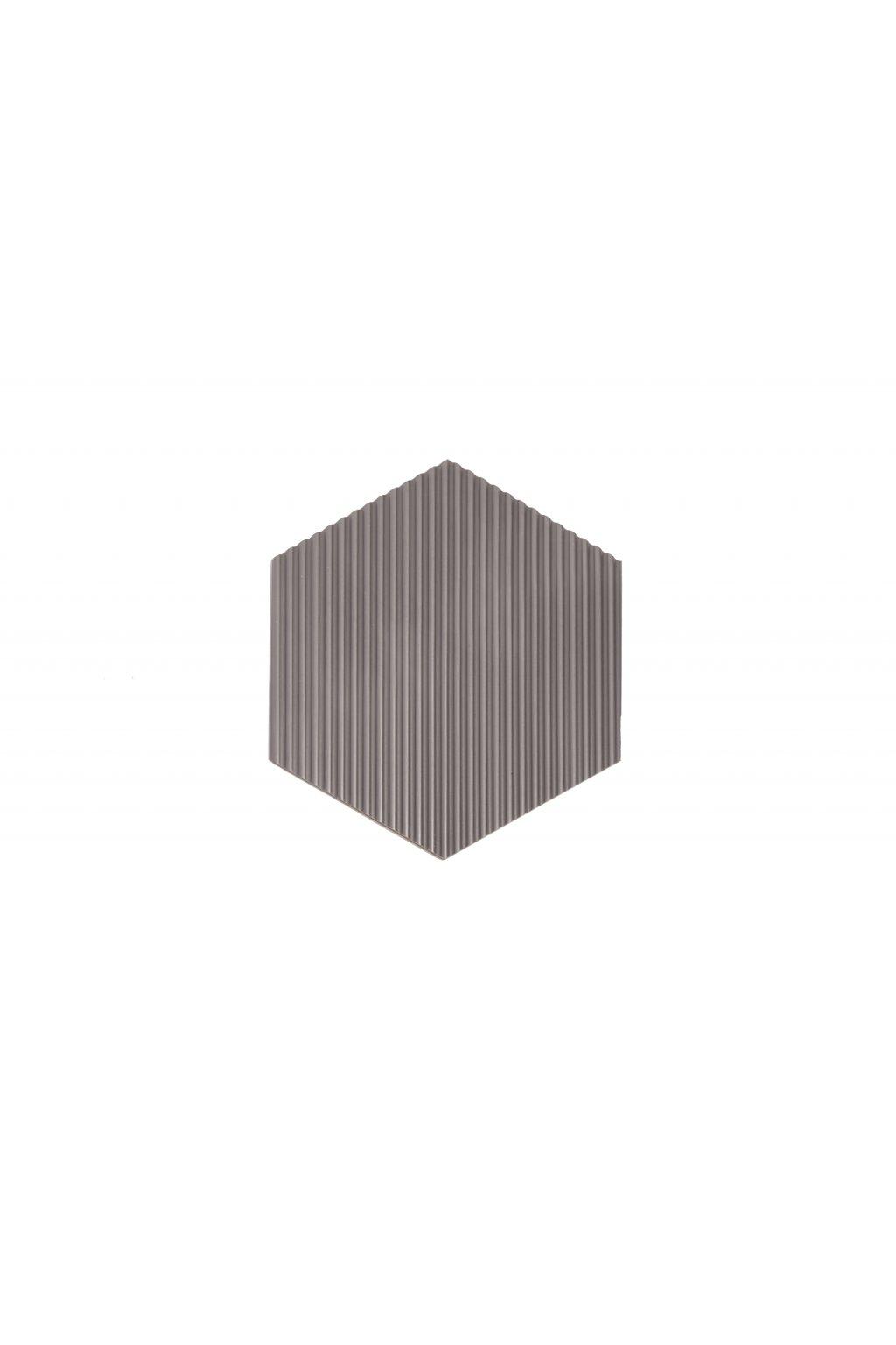 polygon s vlnkami šedá