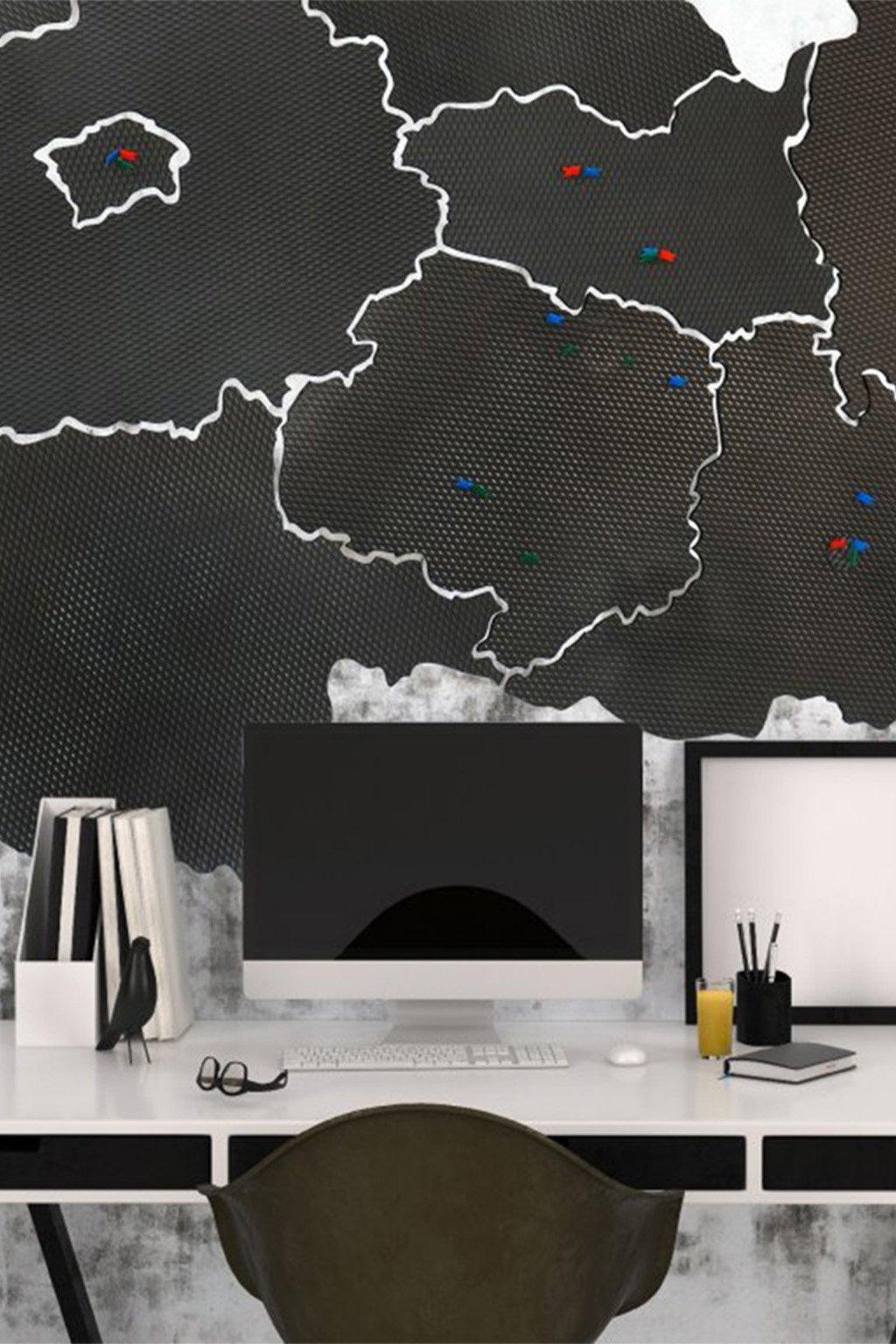 Mapa ČR nástěnka rozmer