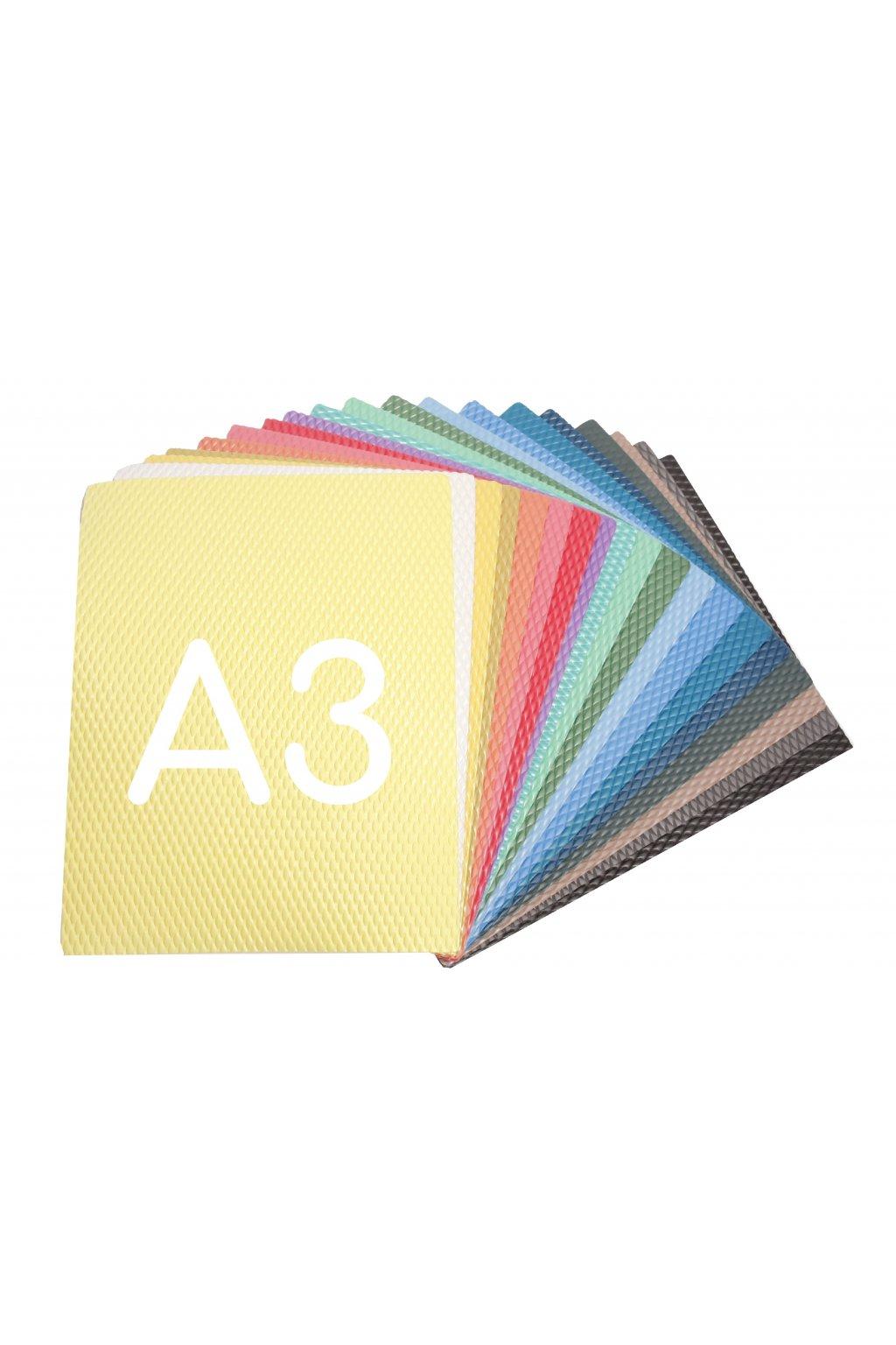 a3 papir s reliefem