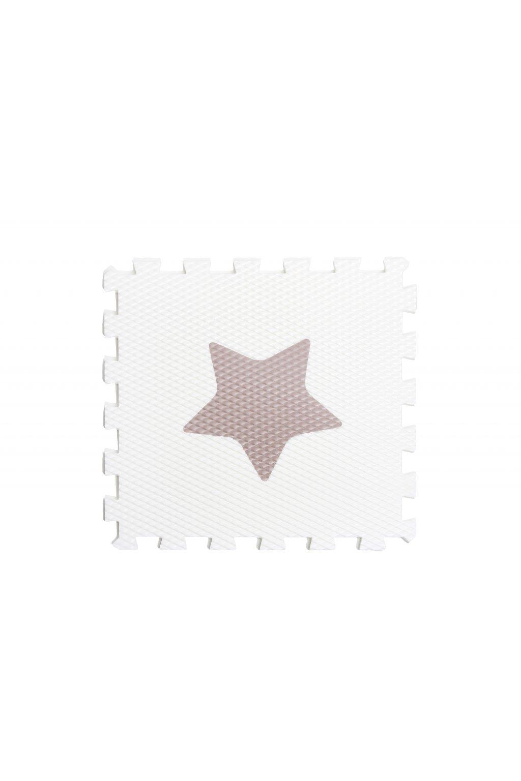 minideckfloor hvězda bílá s hnědou