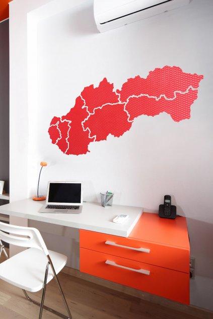 Mapa Slovenska nástěnka rozmer