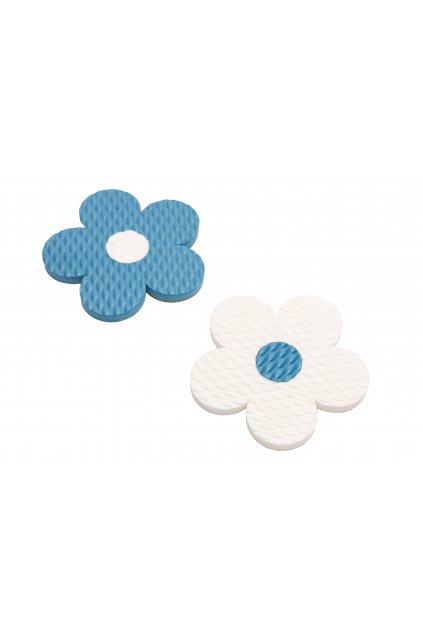 kytky modry bily