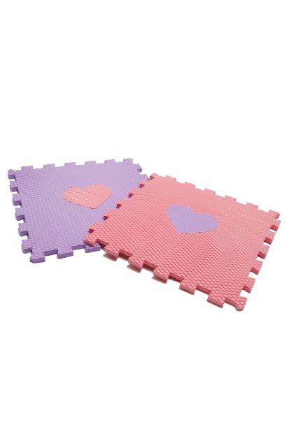 minideckfloor fialovo růžové srdce