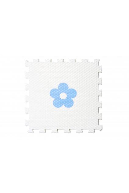 minideckfloor kytka bílá s modrou